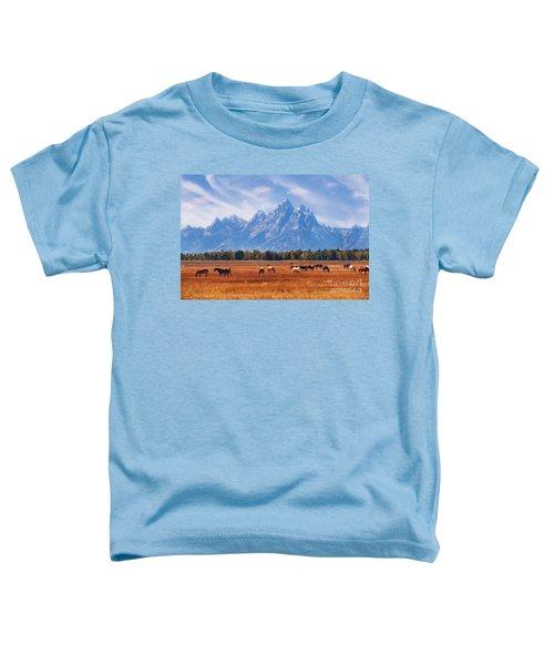Majestic Teton Landscape Toddler T-Shirt