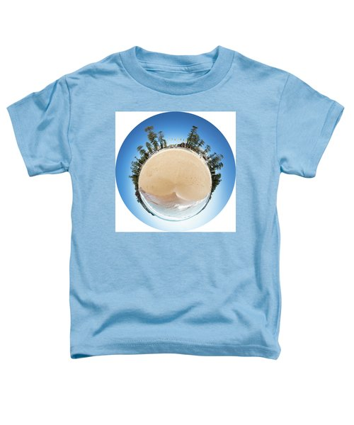 Toddler T-Shirt featuring the photograph Manly Beach Tiny Planet by Chris Cousins
