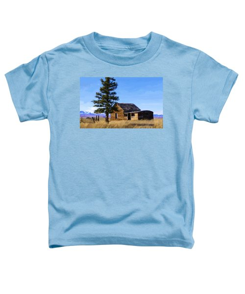 Toddler T-Shirt featuring the painting Memories Of Montana by Susan Kinney