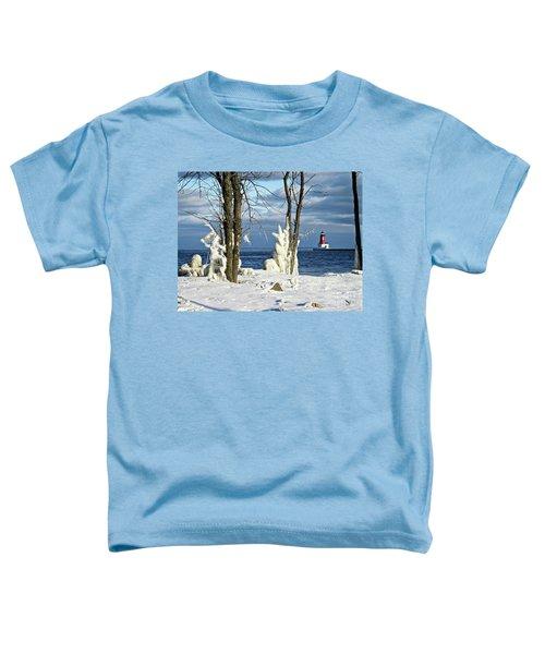 Menominee Lighthouse Ice Sculptures Toddler T-Shirt