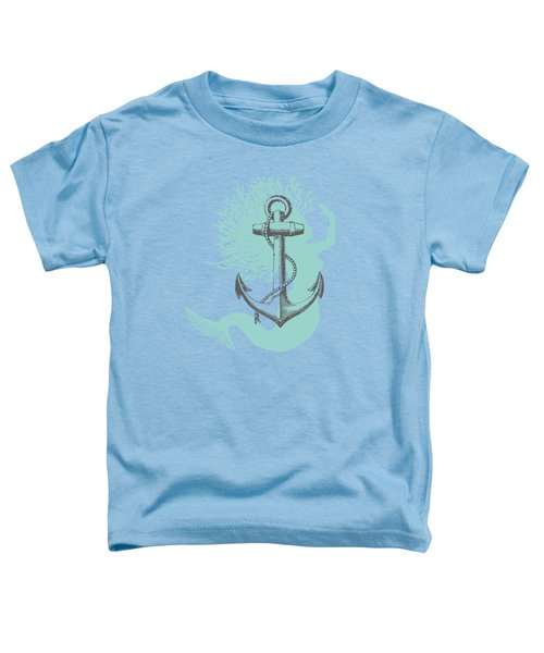 Mermaid And Anchor Toddler T-Shirt by Sandra McGinley