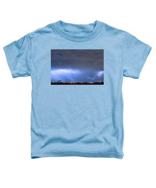 Toddler T-Shirt featuring the photograph Michelangelo Lightning Strikes Oil by James BO Insogna