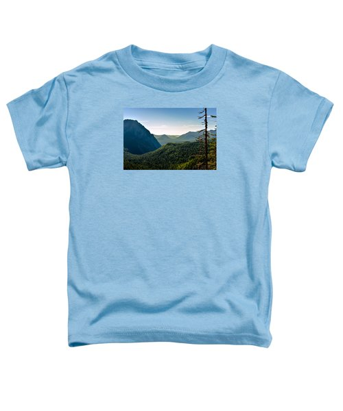 Toddler T-Shirt featuring the photograph Misty Mountains by Anthony Baatz