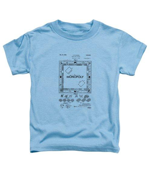 Monopoly Original Patent Art Drawing T-shirt Toddler T-Shirt