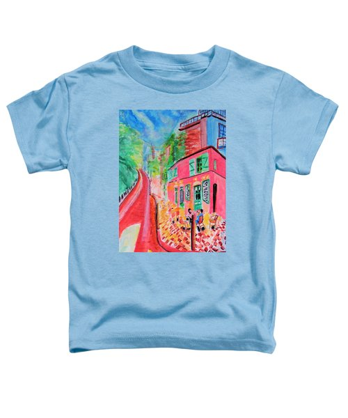 Montmartre Cafe In Paris Toddler T-Shirt
