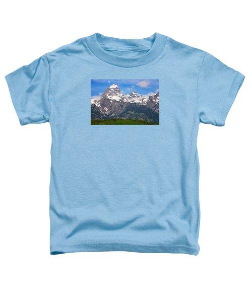Moon Over The Tetons Toddler T-Shirt