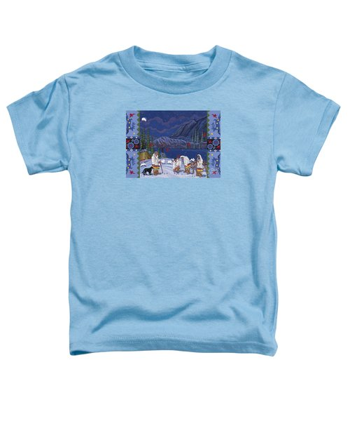 Toddler T-Shirt featuring the painting Moon When The Rivers Dream by Chholing Taha