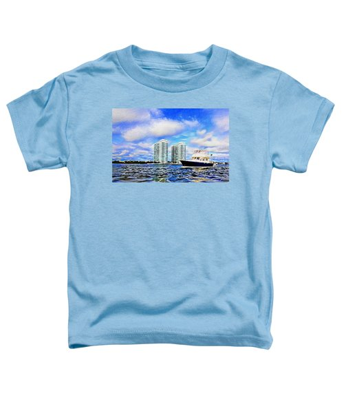 Motoring Past The Marina Grande Toddler T-Shirt