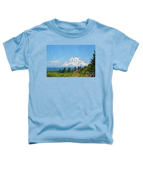 Mount Rainier Watercolor Toddler T-Shirt
