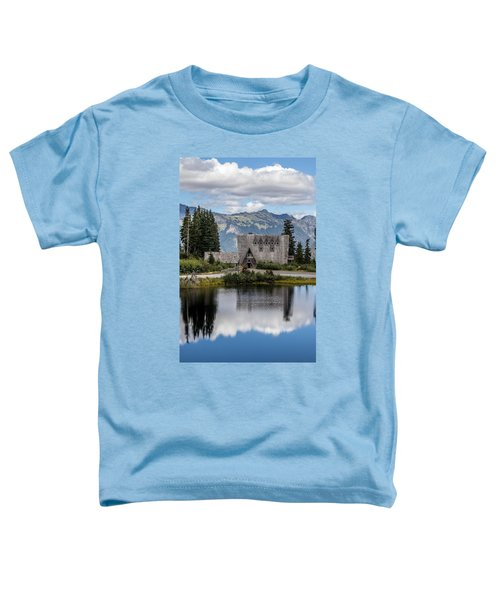 Mt Baker Lodge Reflecting In Picture Lake 3 Toddler T-Shirt