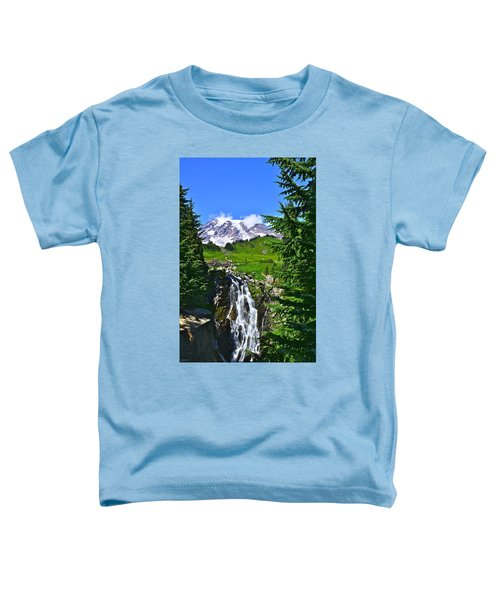 Mt. Rainier From Myrtle Falls Toddler T-Shirt