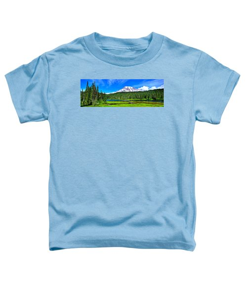 Mt. Rainier From Reflection Lakes Toddler T-Shirt