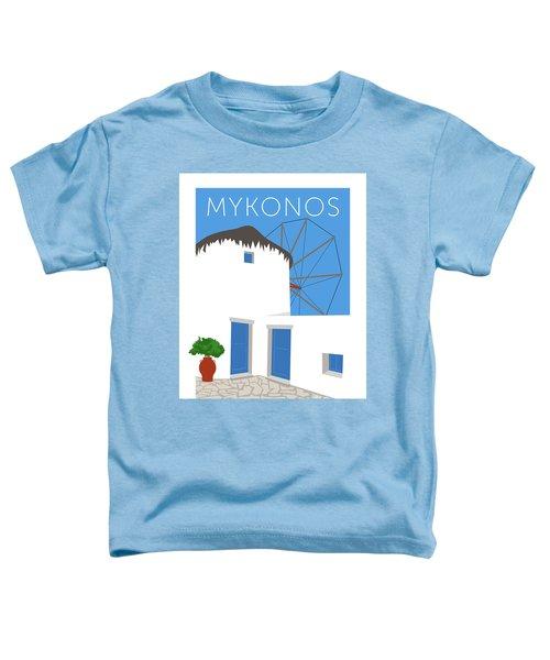 Mykonos Windmill - Blue Toddler T-Shirt