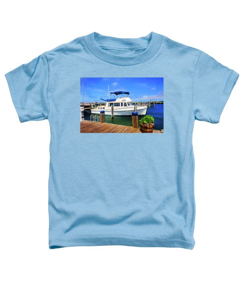 Fishing Boat  In Nantucket Harbor 52 Toddler T-Shirt