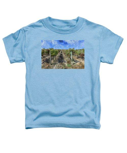 Napa Valley Vineyard - Rows Of Grapes Toddler T-Shirt