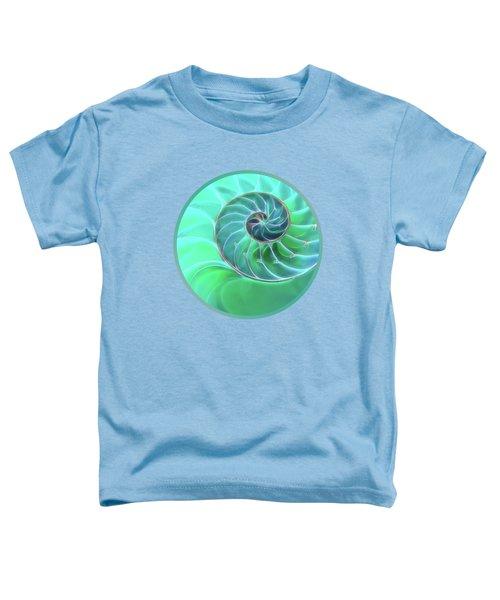 Nautilus Aqua Spiral Toddler T-Shirt