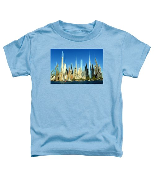 New York City Skyline 2100 - Modern Artwork Toddler T-Shirt