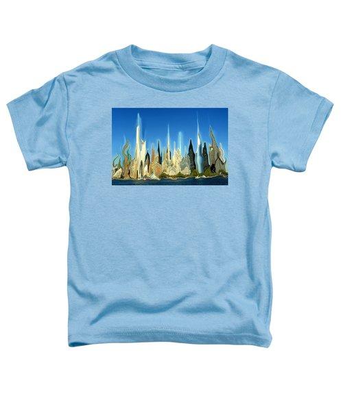 New York City Skyline 2100 - Modern Artwork Toddler T-Shirt