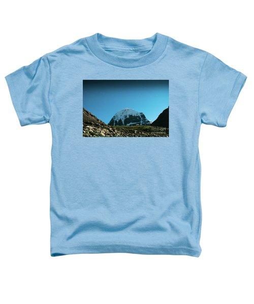 Night Sky Holy Kailas Himalayas Tibet Yantra.lv Toddler T-Shirt