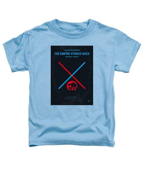 No155 My Star Wars Episode V The Empire Strikes Back Minimal Movie Poster Toddler T-Shirt
