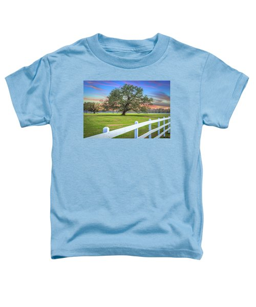 Oak Alley Signature Tree At Sunset Toddler T-Shirt
