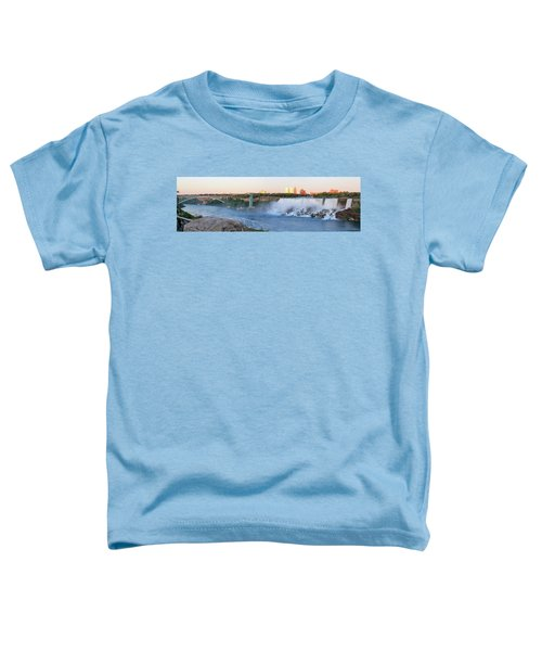 Panoramic Views Of The Peacebridge, Niagara River And American Falls Toddler T-Shirt