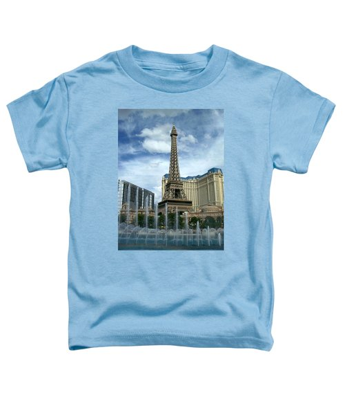 Paris Hotel And Bellagio Fountains Toddler T-Shirt