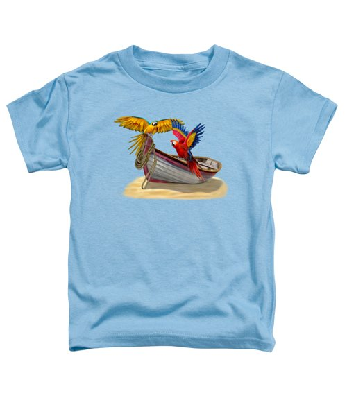 Parrots Of The Caribbean Toddler T-Shirt