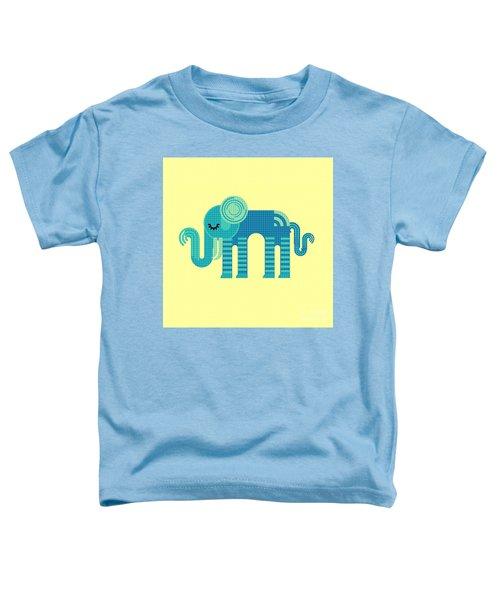 Pattern Elephant Toddler T-Shirt