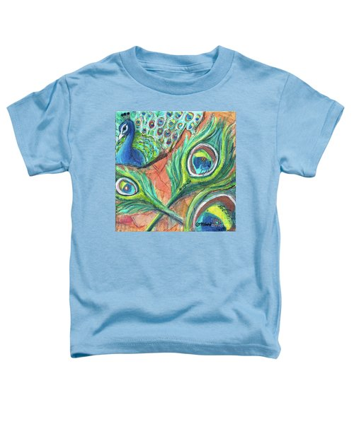 Peacock Feathers Toddler T-Shirt
