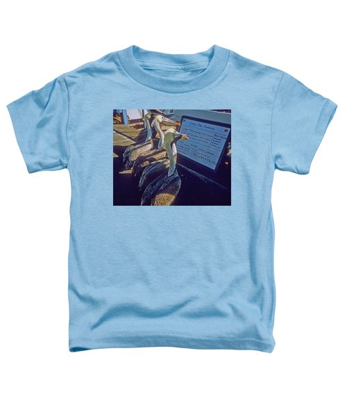 Pelicans And The Menu Toddler T-Shirt
