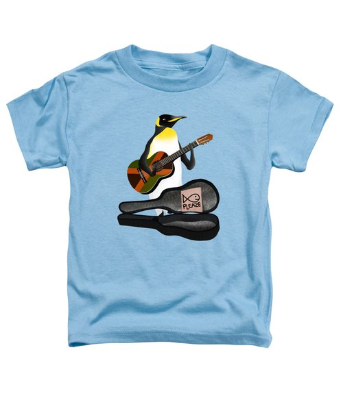Penguin Busker Toddler T-Shirt by Early Kirky