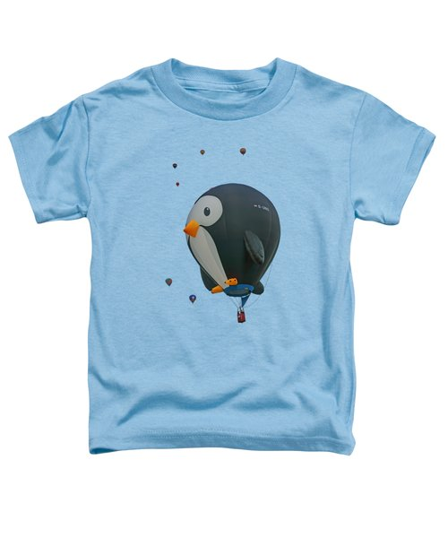 Penguin - Hot Air Balloon - Transparent Toddler T-Shirt by Nikolyn McDonald