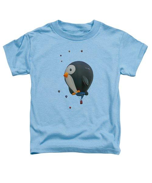 Penguin - Hot Air Balloon - Transparent Toddler T-Shirt