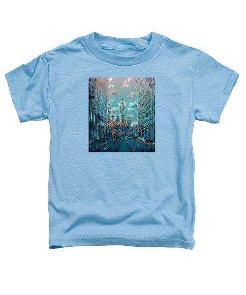 Philadelphia Street Toddler T-Shirt by Bekim Art