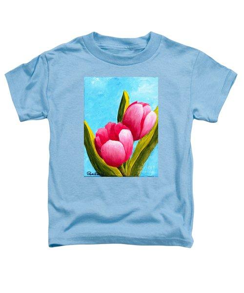 Pink Bubblegum Tulips I Toddler T-Shirt