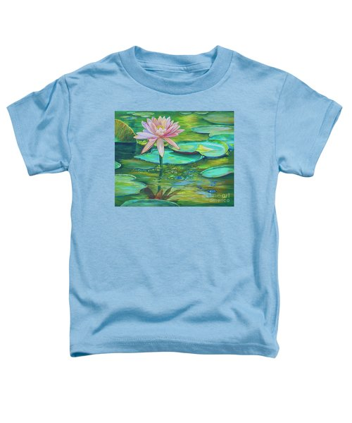 Pink Water Lily Toddler T-Shirt