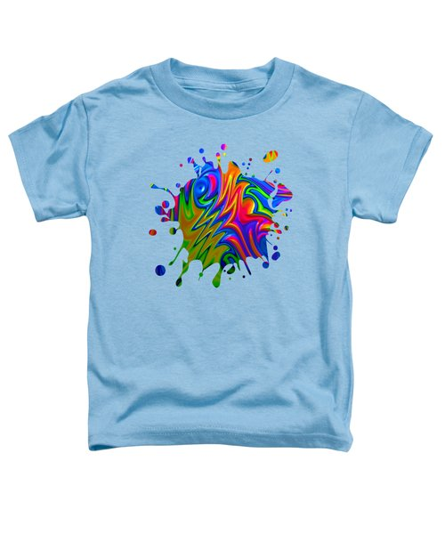 Psychedelic Rainbow Fractal Toddler T-Shirt