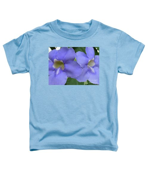 Purple Flower Picture Perfect Toddler T-Shirt