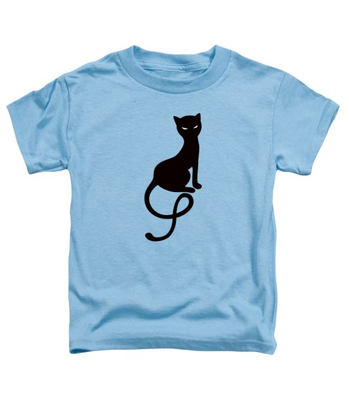 Purple Gracious Evil Black Cat Toddler T-Shirt by Boriana Giormova