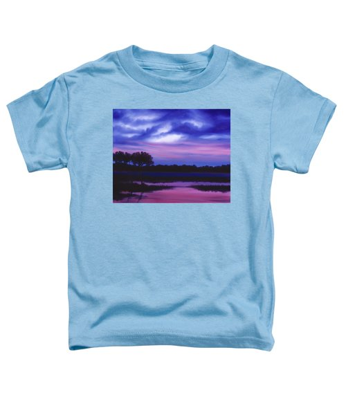 Purple Landscape Or Jean's Clearing Toddler T-Shirt