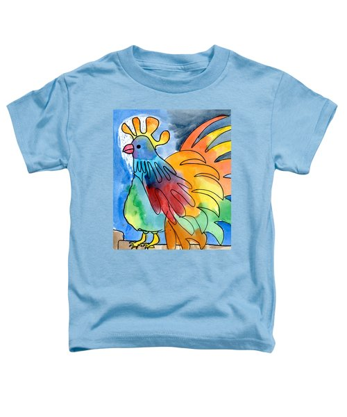 Rainbow Rooster Toddler T-Shirt