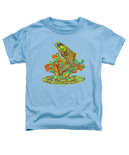 Rainbow Trout Toddler T-Shirt by Rebecca Wang