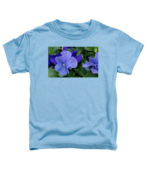 Raindrops On Purple Pansy Toddler T-Shirt