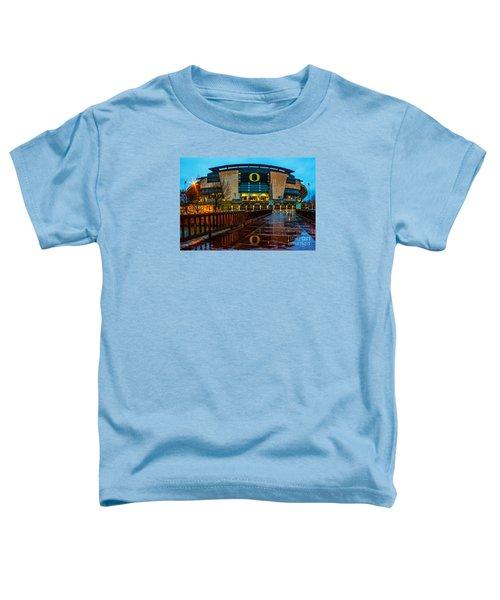 Rainy Autzen Stadium Toddler T-Shirt