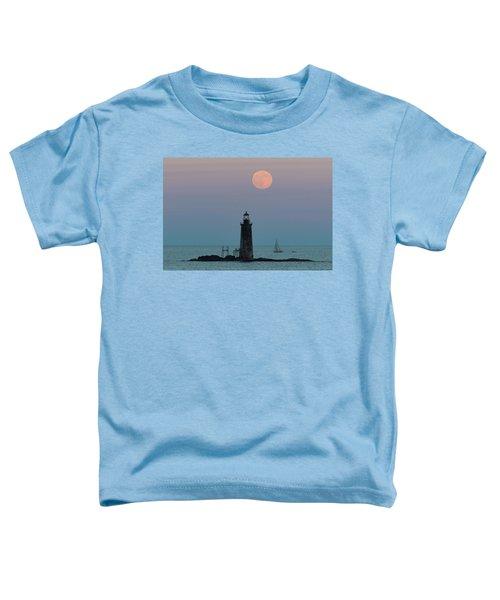 Ram Island Light Buck Moon And Sailboat Toddler T-Shirt