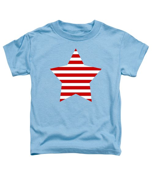 Red And White Star On A Field Of Blue Toddler T-Shirt