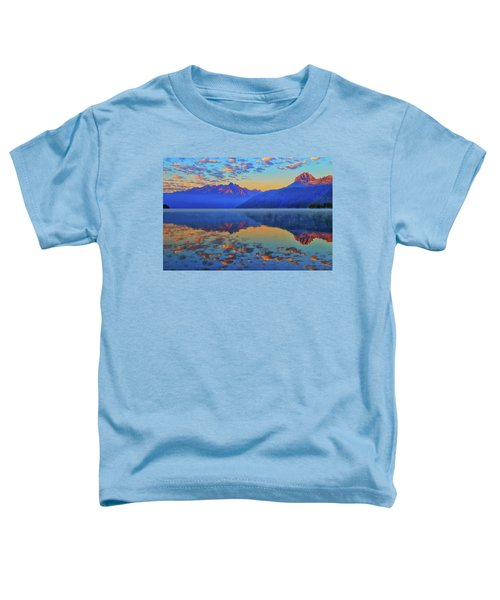 Toddler T-Shirt featuring the photograph Redfish Lake Morning Reflections by Greg Norrell