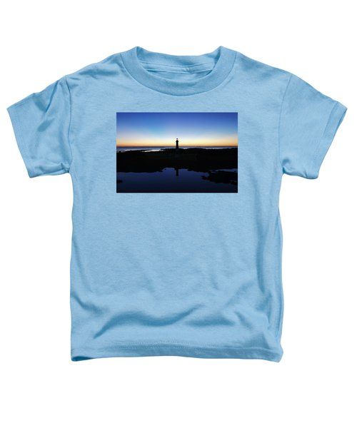 Reflection Of Bodie Light At Sunset Toddler T-Shirt