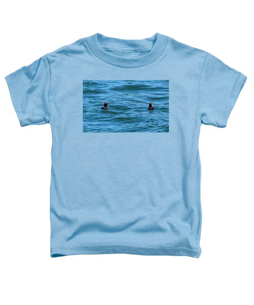 Rhinoceros Auklet Toddler T-Shirt by Linda Kerkau